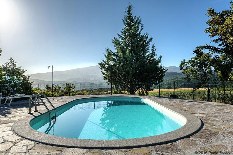 Casa vacanze paradiso d orcia castel del piano grosseto for Piano del sito piscina